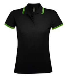 SOL'S Ladies Pasadena Tipped Cotton Piqué Polo Shirt