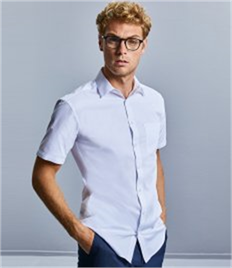 Russell Collection Short Sleeve Tailored Coolmax® Shirt