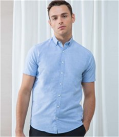 Henbury Modern Short Sleeve Slim Fit Oxford Shirt