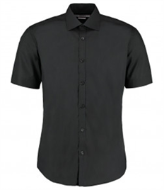 Kustom Kit Short Sleeve Slim Fit Business Shirt