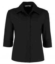 Kustom Kit Ladies 3/4 Sleeve Continental Shirt