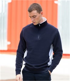 Finden and Hales Zip Neck Sweatshirt
