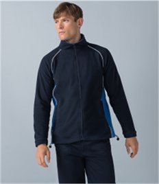 Finden and Hales Contrast Micro Fleece Jacket