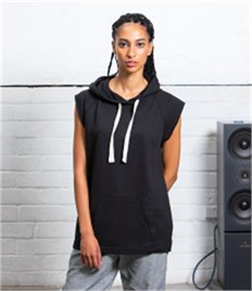 Mantis Ladies Oversized Sleeveless Hoodie