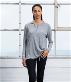 Mantis Ladies Loose Fit Hooded T-Shirt