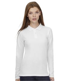 B&C ID.001 Womens Long Sleeve Polo