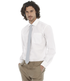 B&C Men's Smart Long Sleeve Poplin Shirt