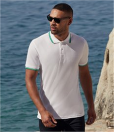 Fruit of the Loom Premium Tipped Cotton Pique Polo Shirt