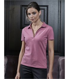 Women's Luxury Stretch V-Neck Polo