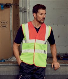 Yoko Hi-Vis Two Band and Braces Waistcoat